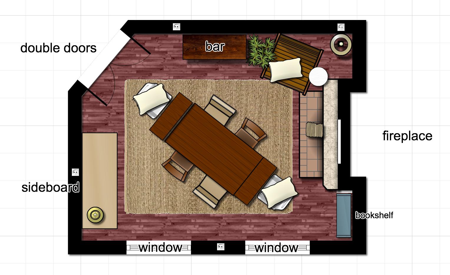New Dining Room Floor Plan